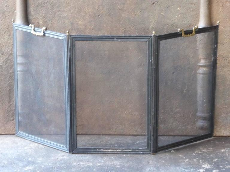 19th century french fireplace screen at 1stdibs. Black Bedroom Furniture Sets. Home Design Ideas