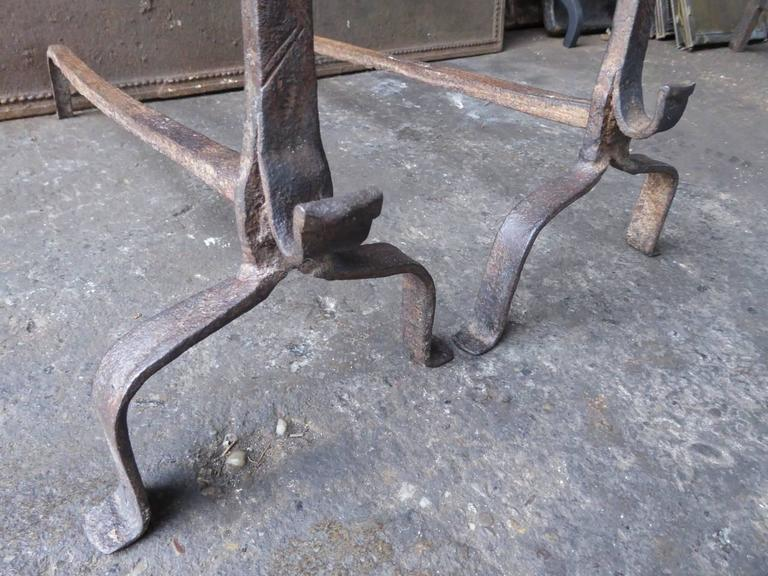 17th century french gothic firedogs or andirons for sale for 17th century french cuisine