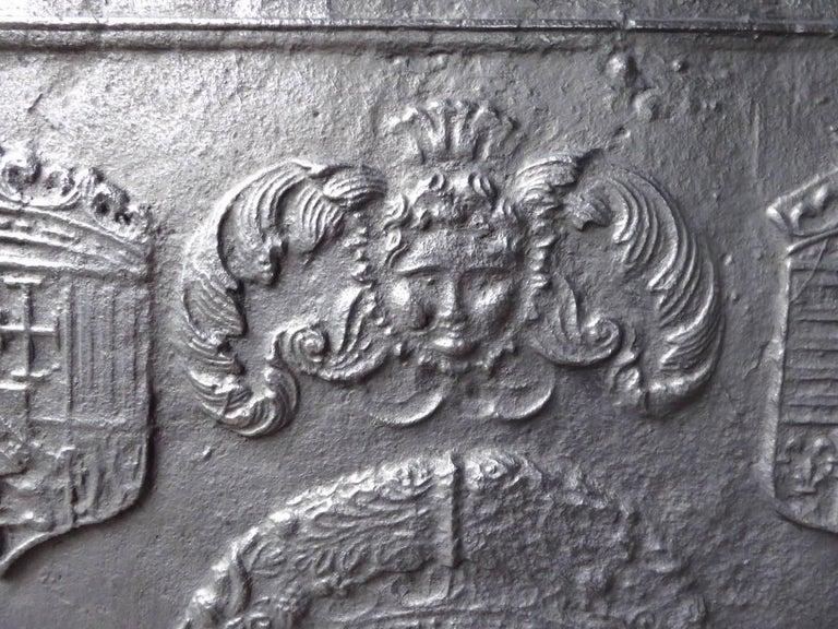 16th-17th Century 'Arms of Lorraine' Fireback 6