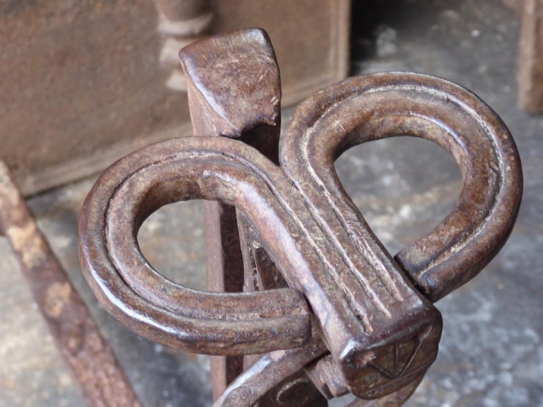 17th Century French Gothic Andirons or Firedogs For Sale 11