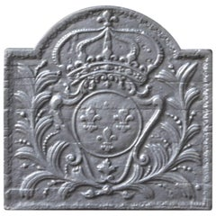 French 'Arms of France' Fireback, 17th-18th Century