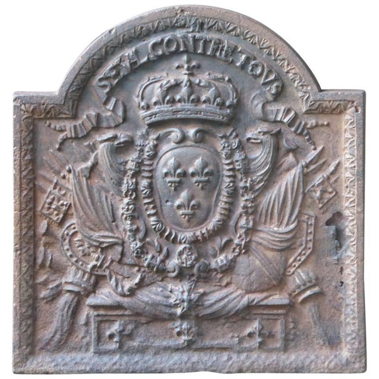 17th-18th Century 'Arms of France' Fireback