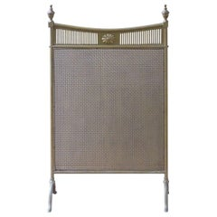 Antique English Fire Screen, Fireplace Screen