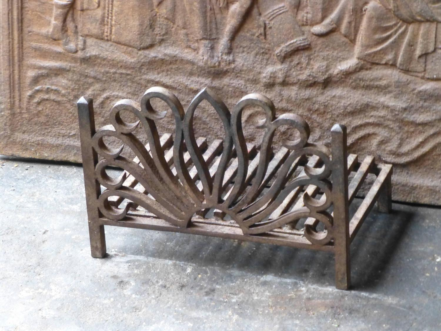 wrought iron fireplace grate grate at 1stdibs