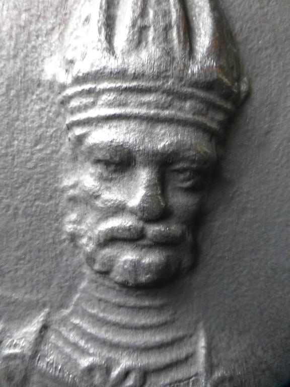 Cast 17th Century Charlemagne Fireback For Sale