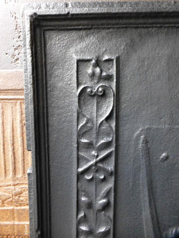 Iron 17th Century Charlemagne Fireback For Sale