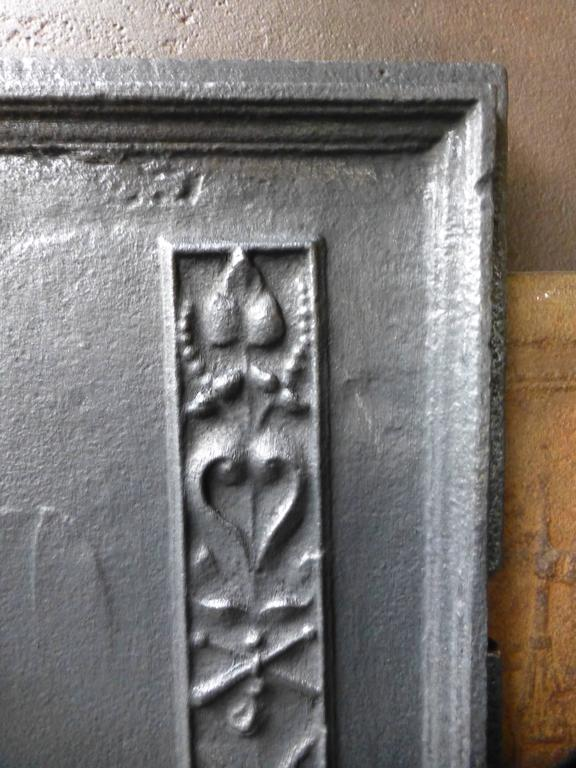 17th Century Charlemagne Fireback For Sale 1