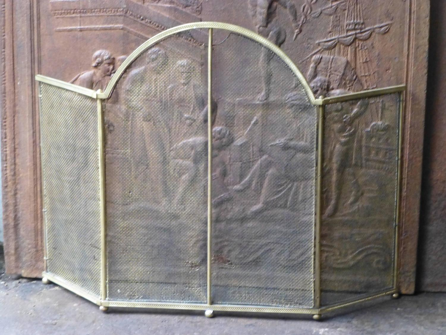brass peacock fireplace screen late th century bronze dor and