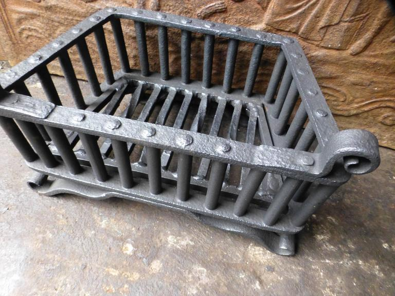 small 18th century wrought iron fireplace grate