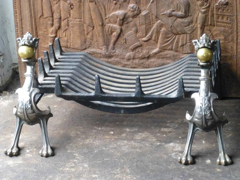 Impressive Dragon Fireplace Grate, Fire Grate at 1stdibs