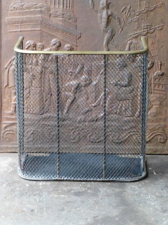 British 19th Century English Fire Guard, Fireplace Guard For Sale