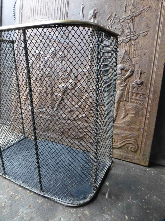 19th Century English Fire Guard, Fireplace Guard For Sale 3
