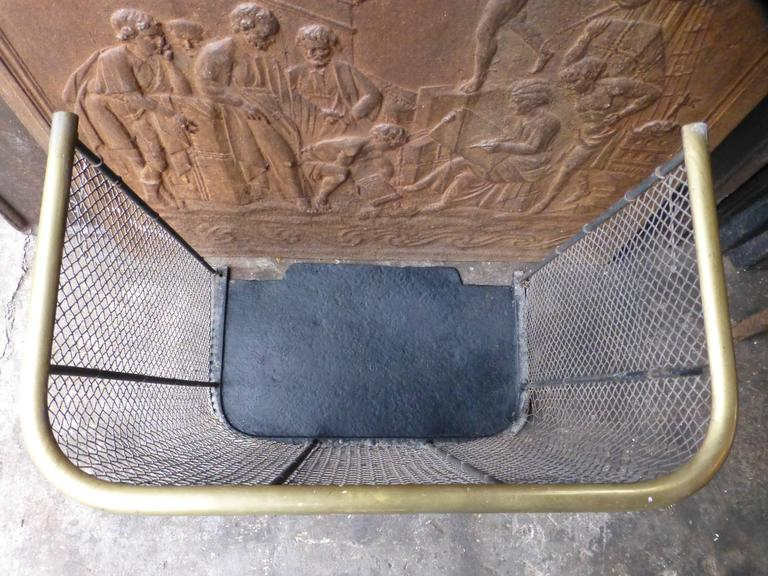 19th Century English Fire Guard, Fireplace Guard For Sale 2