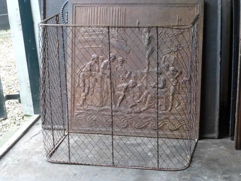 British 19th Century Victorian Fireplace Guard, Fire Guard For Sale
