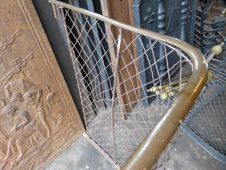 19th Century Victorian Fireplace Guard, Fire Guard For Sale 2
