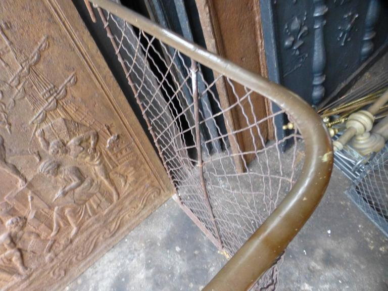 19th Century Victorian Fireplace Guard, Fire Guard For Sale 3