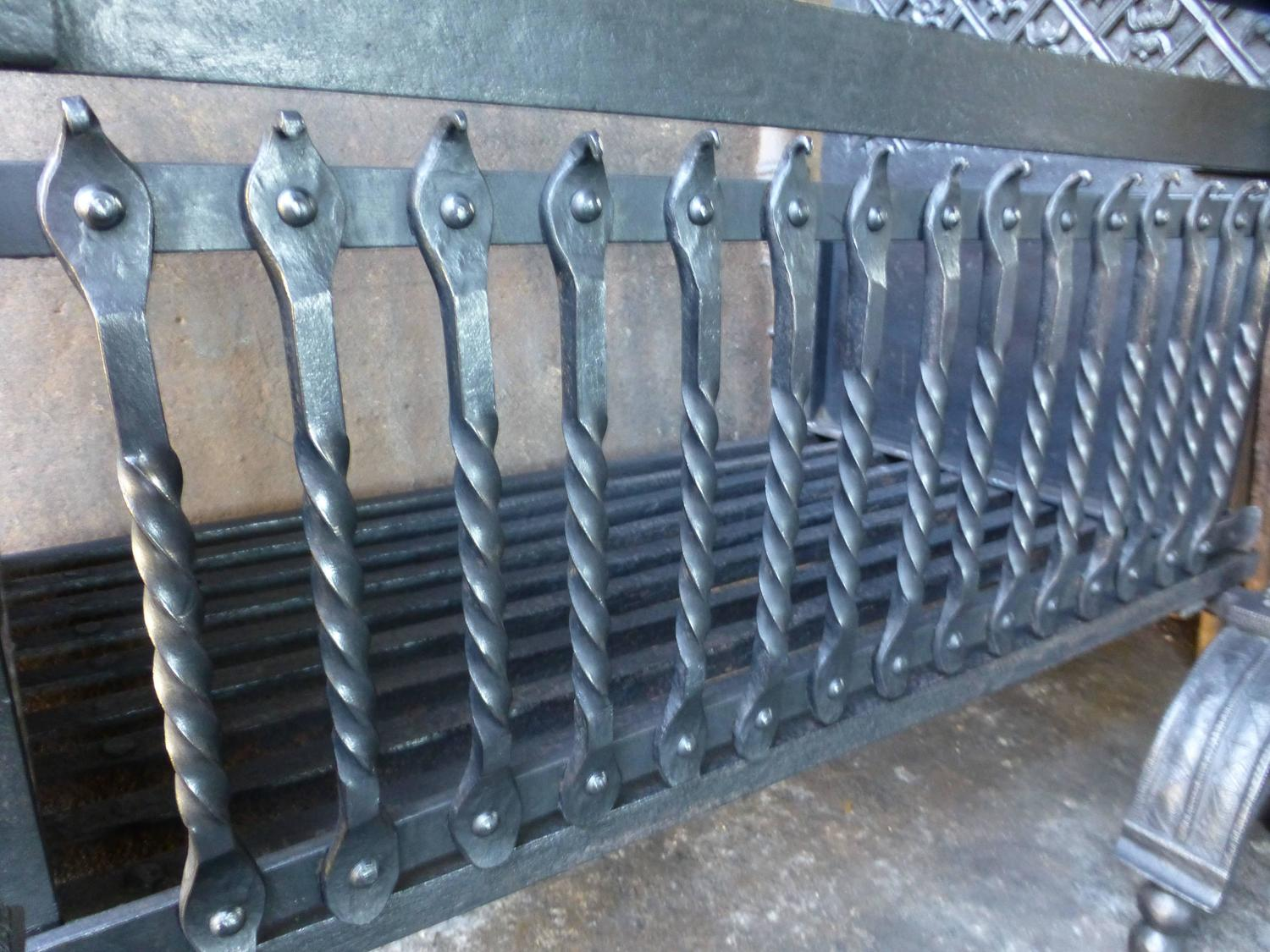 magnificent large english fireplace grate fire grate for