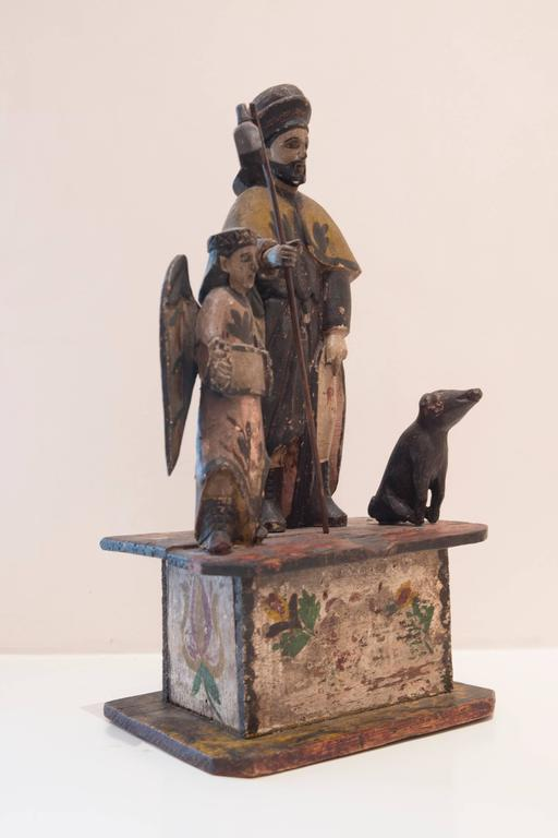 Carved Saint Roch For Sale