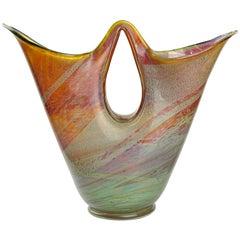 Ercole Barovier Murano 1956 Opal Chalzedon Italienische Glaskunst Doppel Auslauf Vase