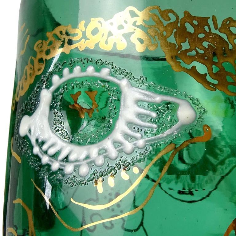 Anzolo Fuga Murano Grotesque Enamel Four Face Italian Art
