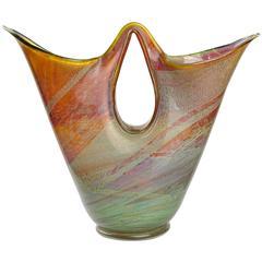 Ercole Barovier Murano 1956 Opal Chalcedony Italian Art Glass Double Spout Vase