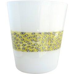 Riccardo Licata for Venini Murano Doppio Incalmo Murrine Italian Art Glass Vase