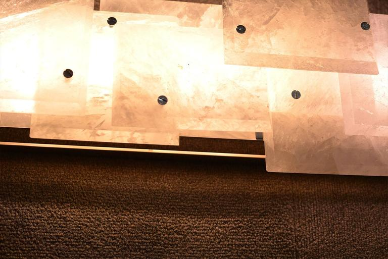 Contemporary Pair of Modern Luxury Rock Crystal Quartz Sconces For Sale