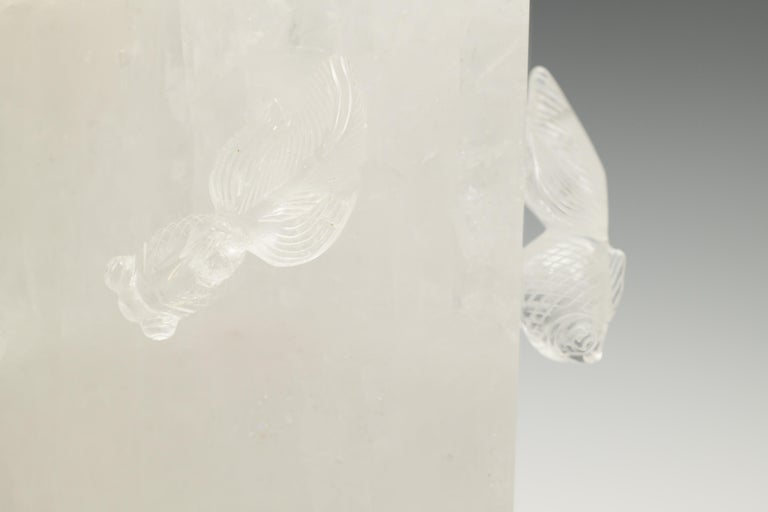 Goldfish Rock Crystal Lamp by Phoenix For Sale 2