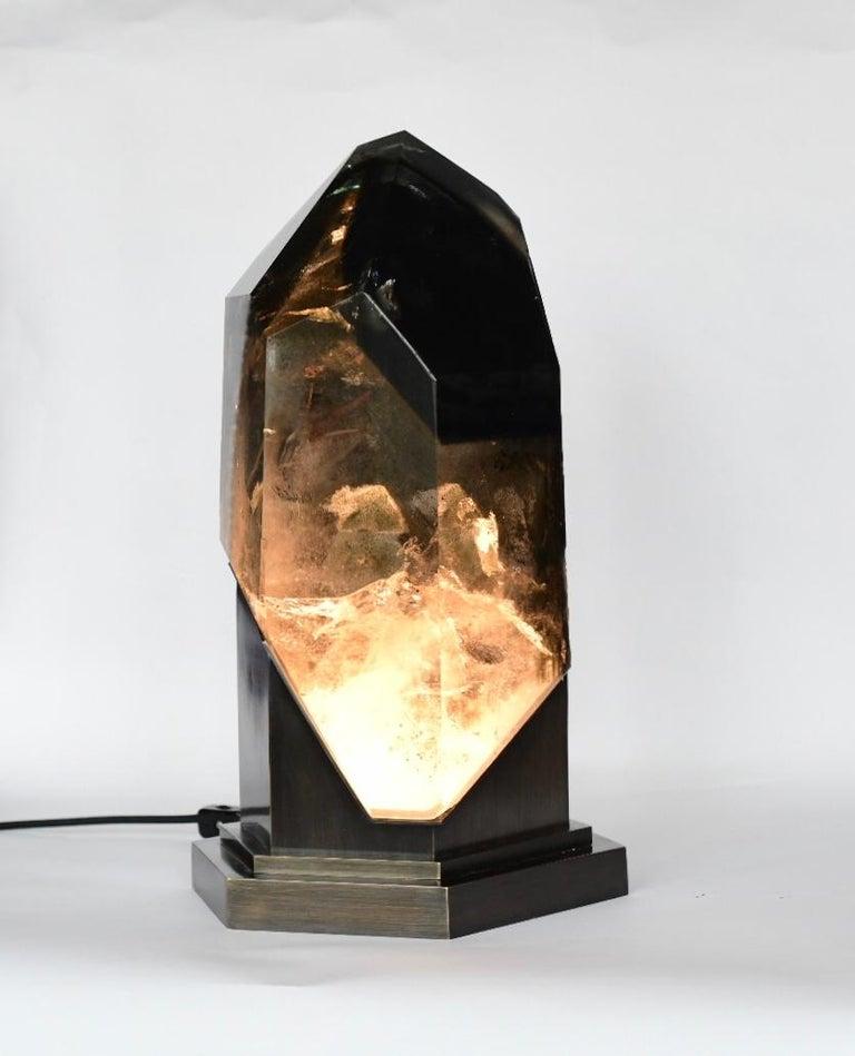 Rare Rock Crystal Sculpture Light For Sale 5