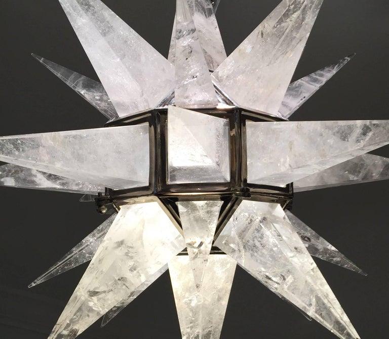 Contemporary Rock Crystal Quartz Chandelier For Sale At Stdibs - Quartz chandelier crystals