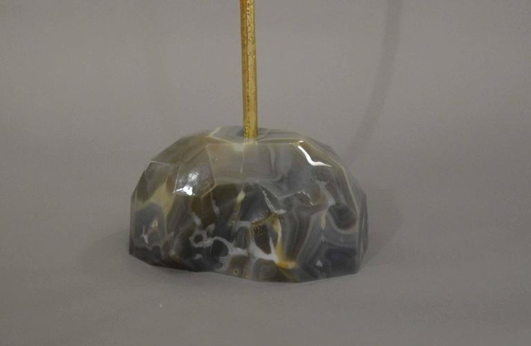 Contemporary Modern Agate Floor Lamp For Sale