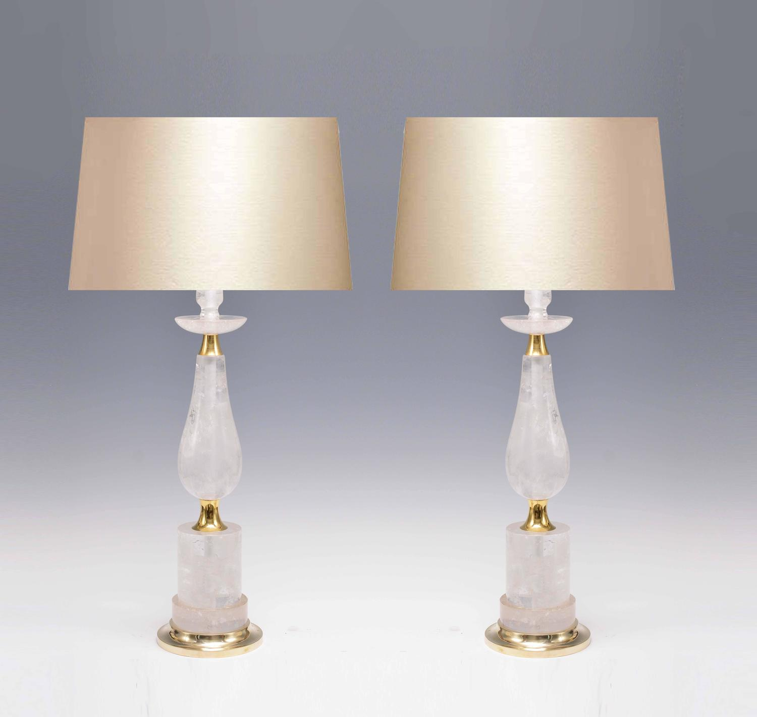 pair of elegant form rock crystal quartz lamps for sale at 1stdibs. Black Bedroom Furniture Sets. Home Design Ideas