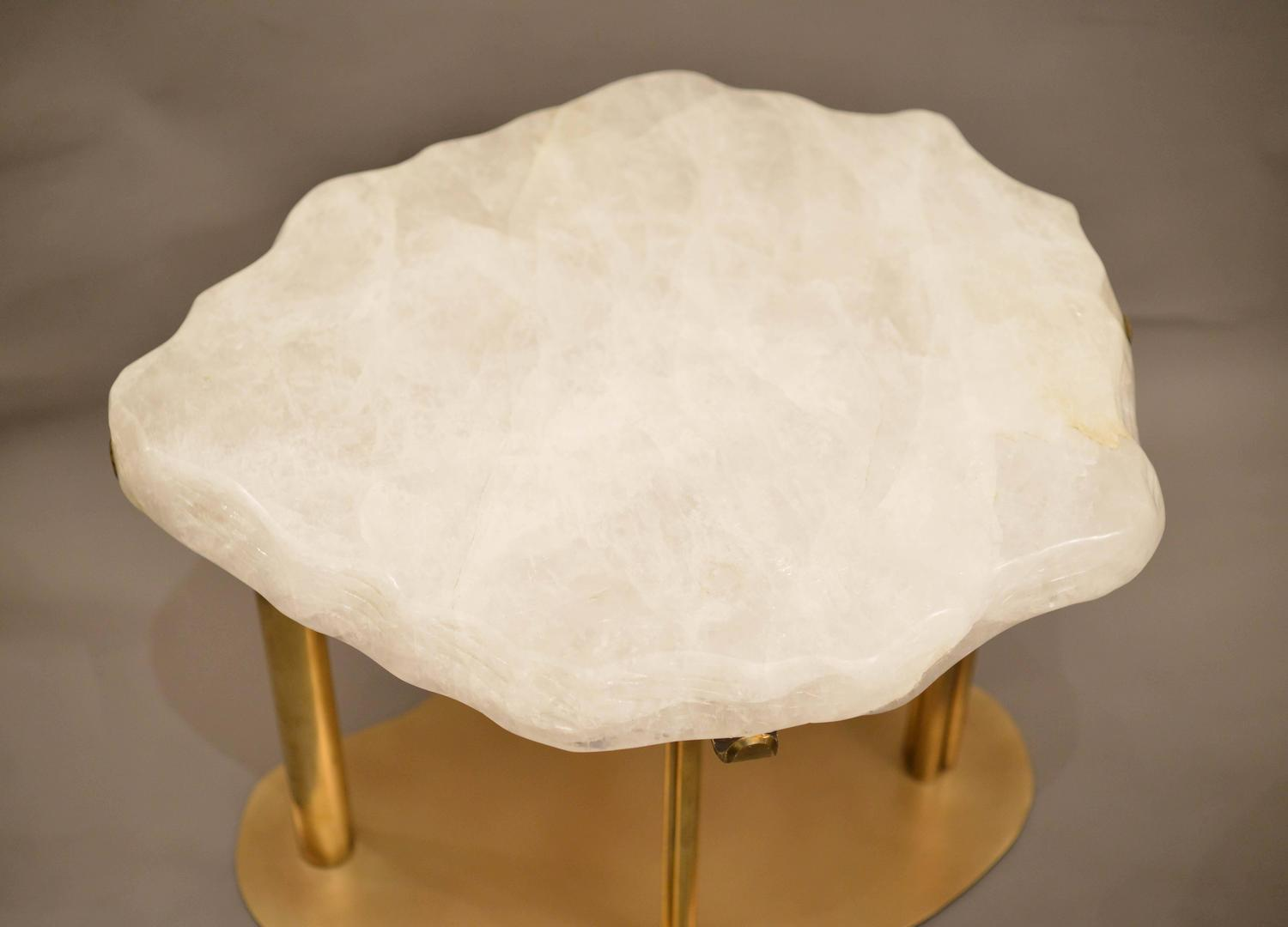 pair of cloud rock crystal quartz cocktail tables at 1stdibs. Black Bedroom Furniture Sets. Home Design Ideas