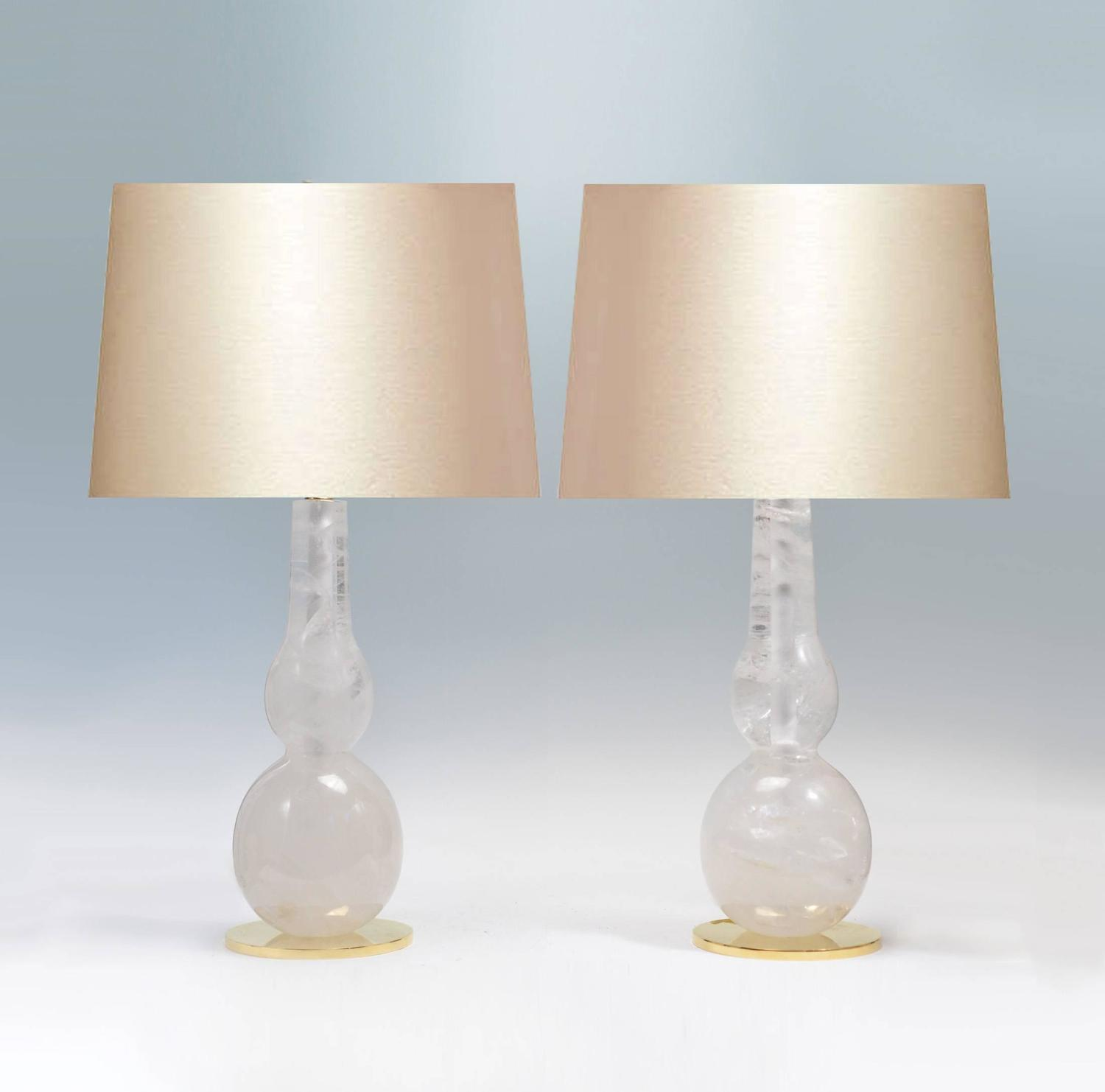 fine carved double gourd rock crystal quartz lamps for sale at 1stdibs. Black Bedroom Furniture Sets. Home Design Ideas