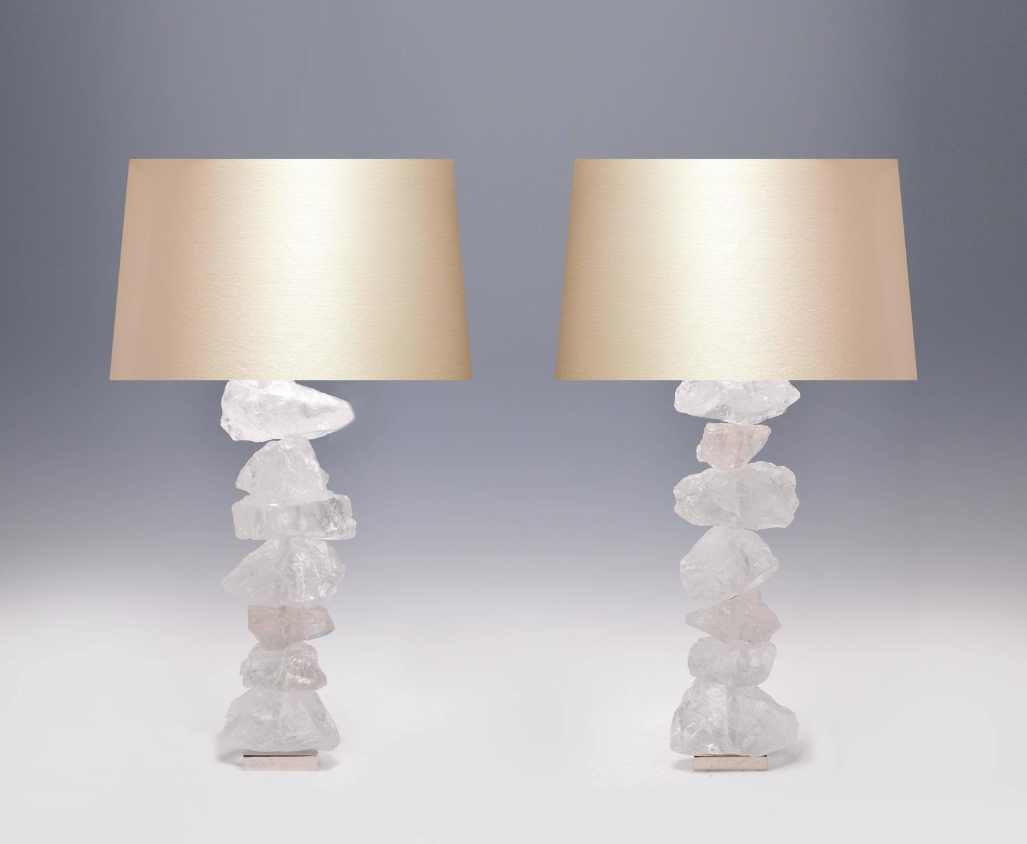pair of natural form rock crystal quartz lamps for sale at 1stdibs. Black Bedroom Furniture Sets. Home Design Ideas