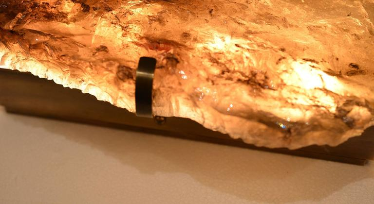 Pair of Natural Form Smoky Brown Rock Crystal Sconces 5