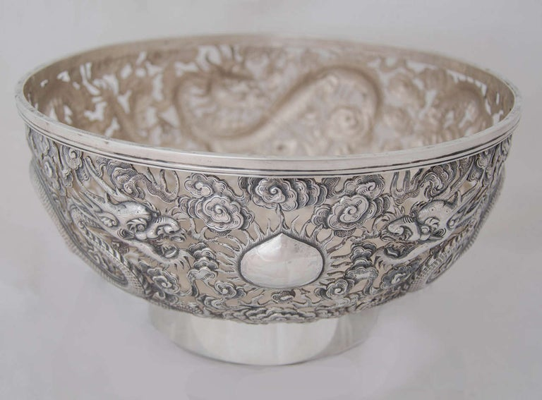 Chinese Export Silver Bowl For Sale 3