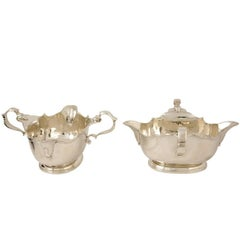 Pair of Large Double-Lipped Sterling Silver Sauceboats