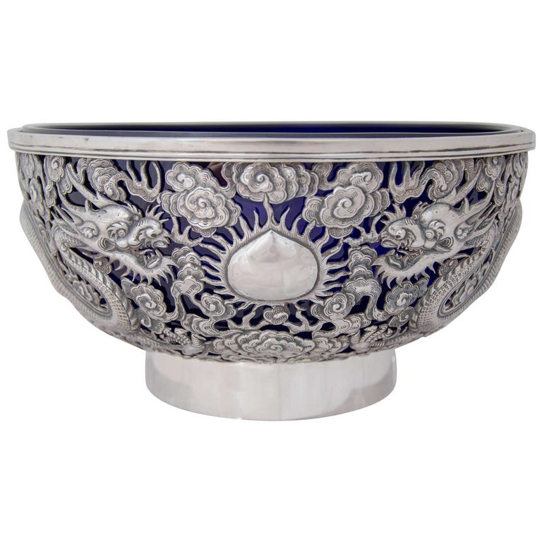Chinese Export Silver Bowl 1