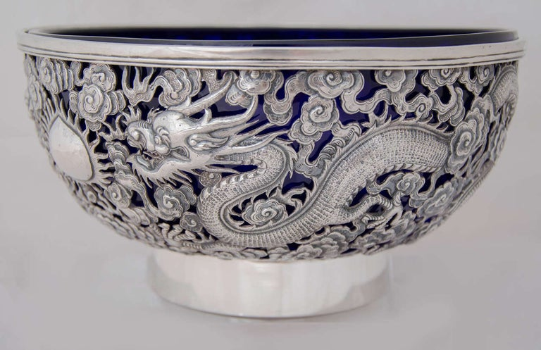 Chinese Export Silver Bowl 6
