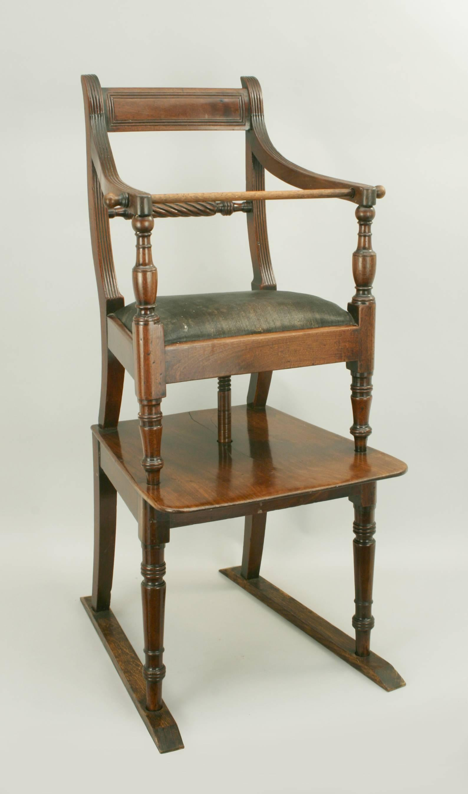 Mahogany Rope Back Childu0027s High Chair A Mahogany Regency Childu0027s Highchair  With Wonderful Color And Patination