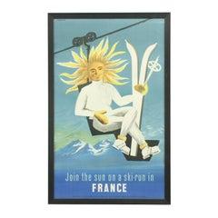 Vintage Ski Poster, Jaques Dubois