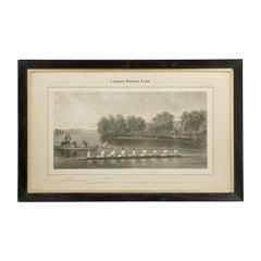 Rowing Print, London Rowing Club