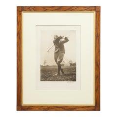 """Harry Vardon"" Golf Print by Beldam"