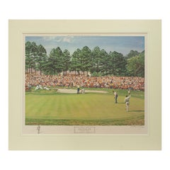 1968 US Masters Golf Print by Arthur Weaver