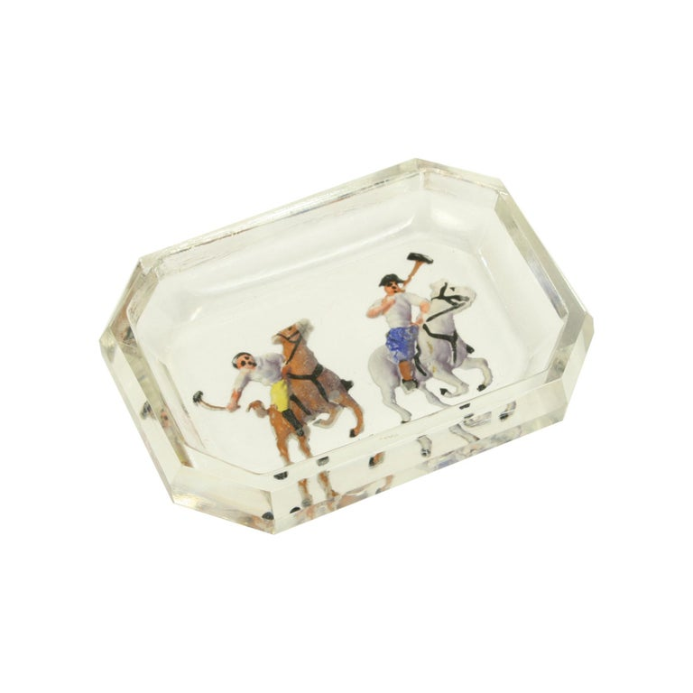 Polo Glass Pin Tray For Sale