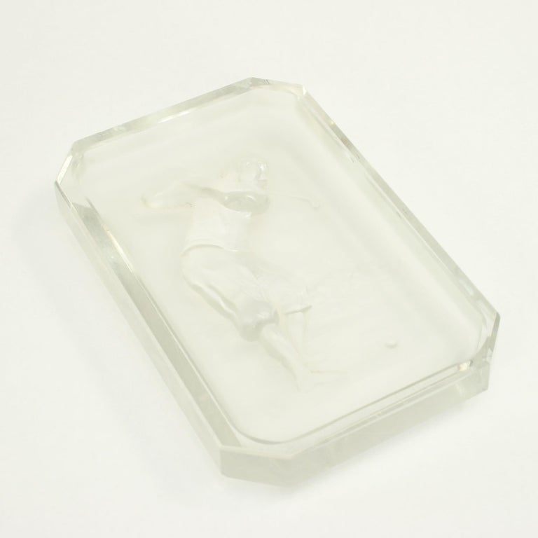 Baccarat Golf Glass Pin Tray In Good Condition For Sale In Oxfordshire, GB