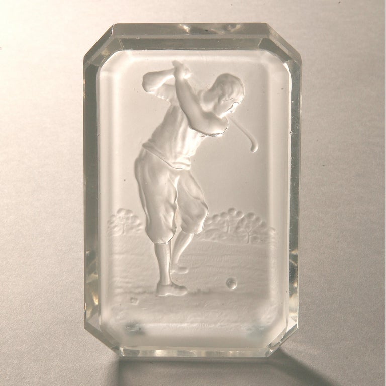 Baccarat Golf Glass Pin Tray For Sale 1