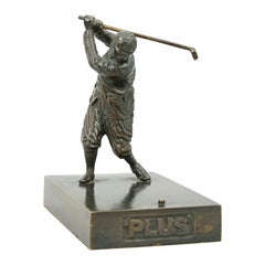 Antique Bronze Golf Figure