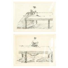Billiard Picture, Female Billiard Player